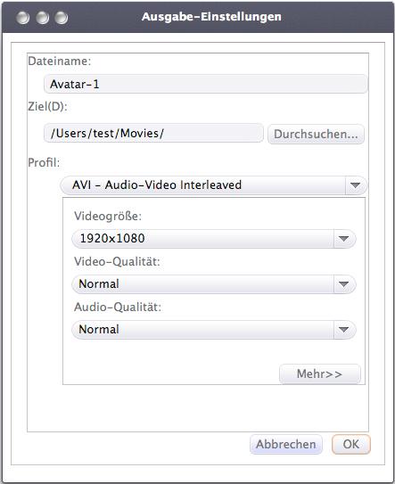 Xilisoft 3D Video Converter Mac, 3D in 2D umwandeln Mac