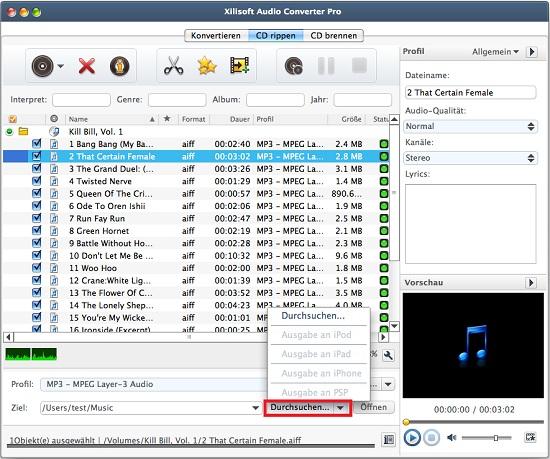 Xilisoft Audio Converter Pro for Mac Anleitung