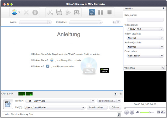 Xilisoft Blu-ray to MKV Converter Mac