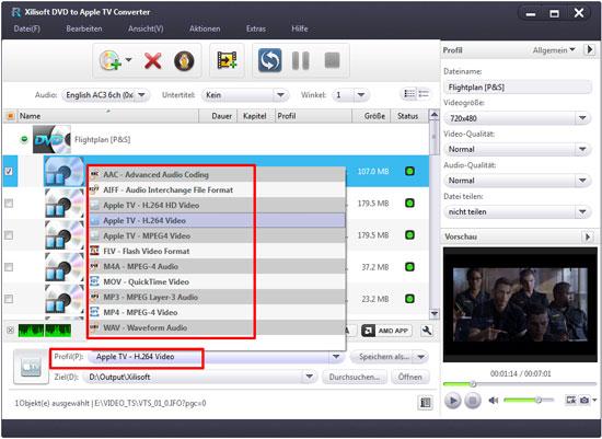 Xilisoft DVD to Apple TV Converter