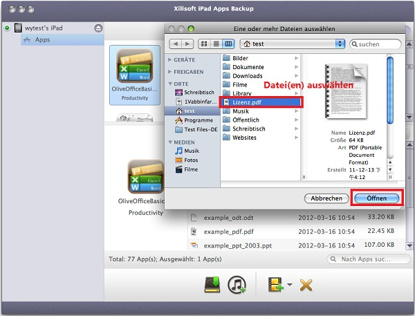 Xilisoft iPad Apps Backup for Mac Anleitung, Apps von iPad auf Mac