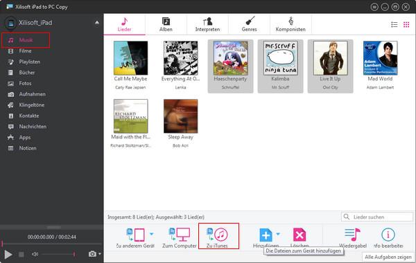 iPad Dateien auf den Computer oder umgekehrt kopieren