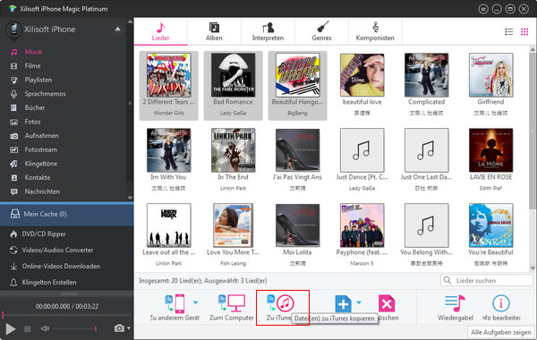 iPhone Dateien zur iTunes Bibliothek kopieren