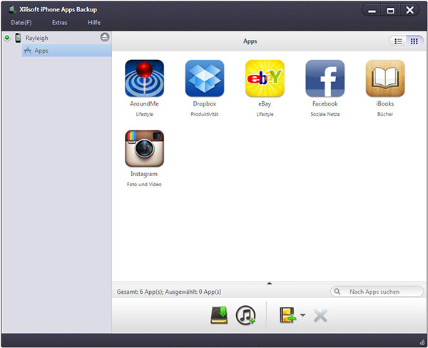 Xilisoft iPhone Apps Backup